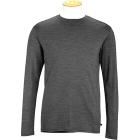 Alchemy M's 180GSM Single Jersey Merino Long Sleeve Crew Shirt Grey Marle